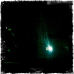 Arianteo Cinema all'aperto in una notte di pioggia. Luglio 2011.
