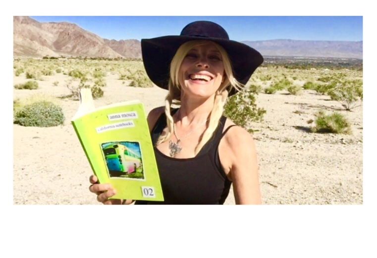 Anna Mosca reading from the California Notebooks 02 in the Coachella Valley Desert.